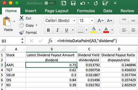 Dividend Stock Portfolio