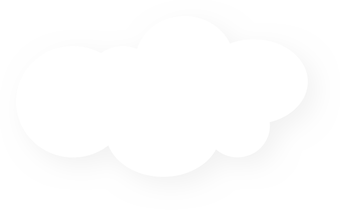 White floating cloud