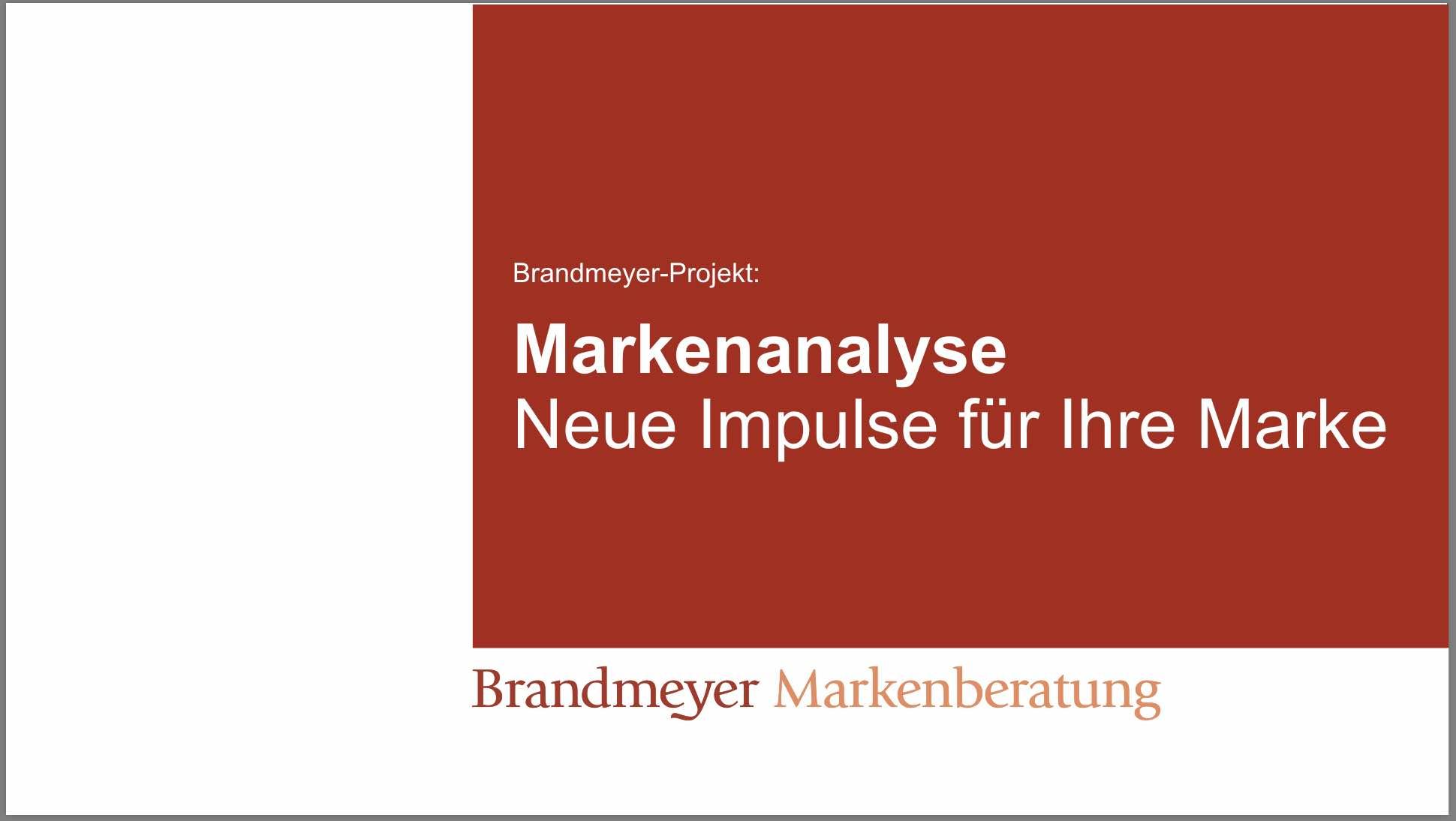 Informationen zum Projekt Markenanalyse