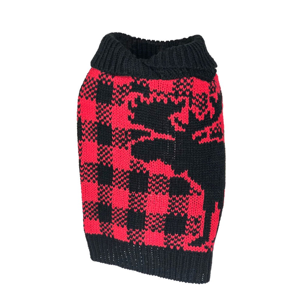Buffalo Plaid Moose Sweater