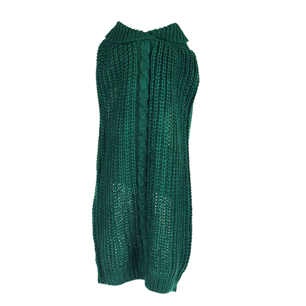 Emerald Green Cowl Neck Sweater