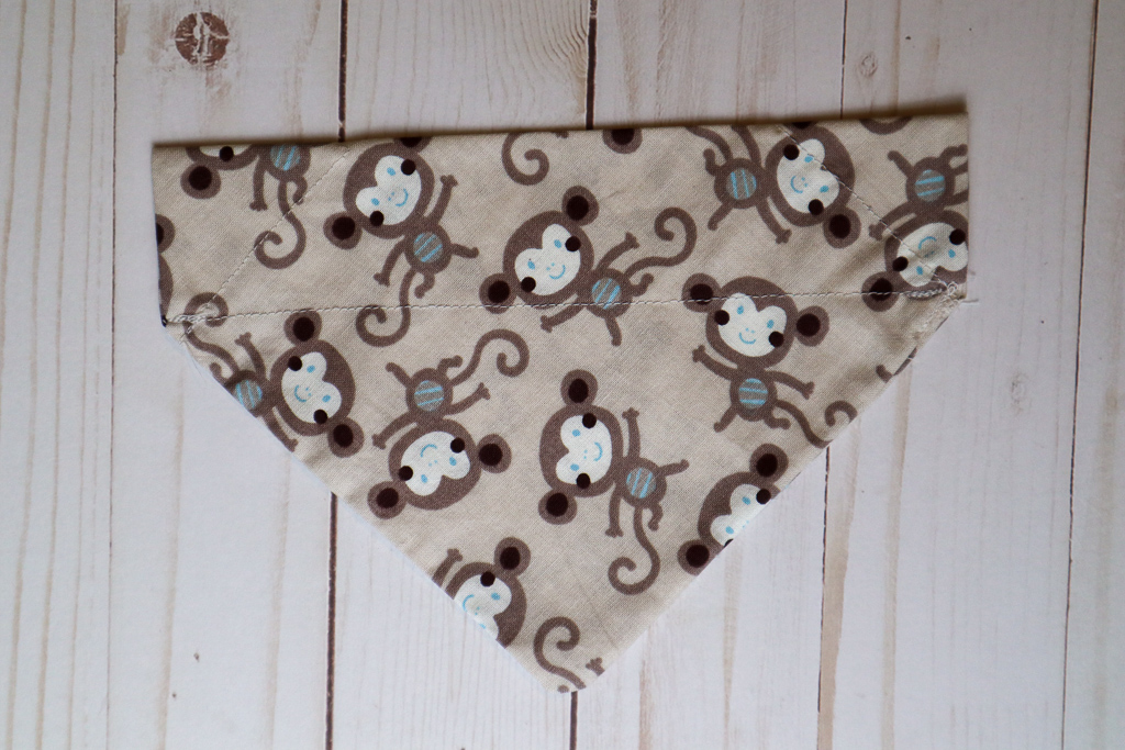 "Handmade Dog Bandana ""Monkeying Around"""