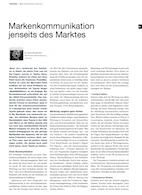 Markenkommunikation jenseits des Marktes