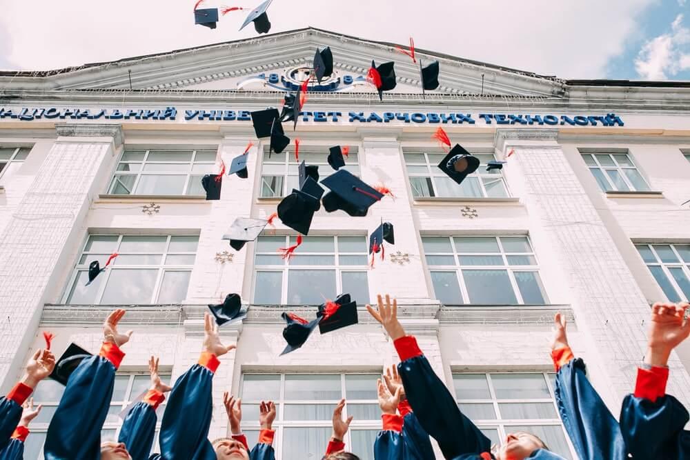college graduates hats