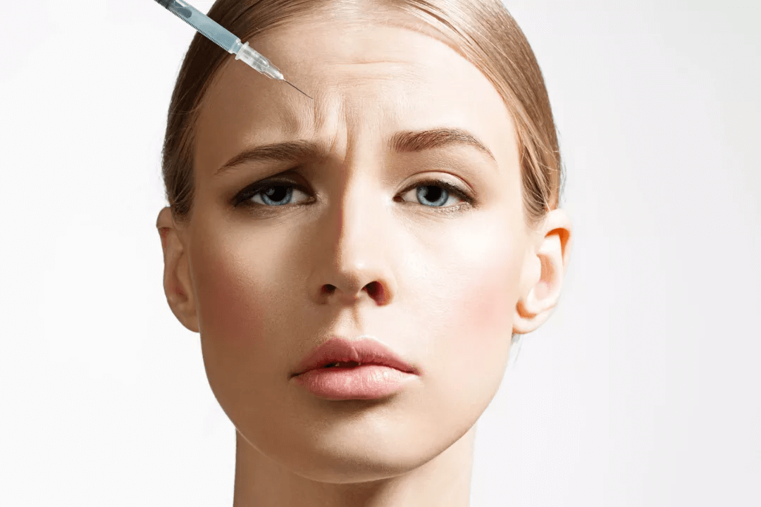 woman botox injection