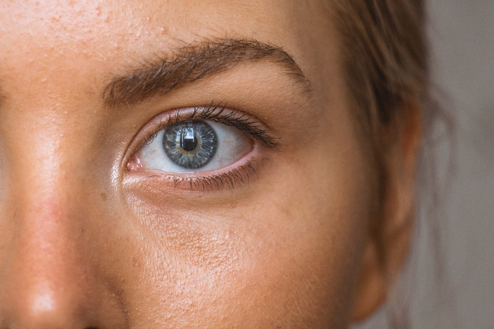 closeup of female face
