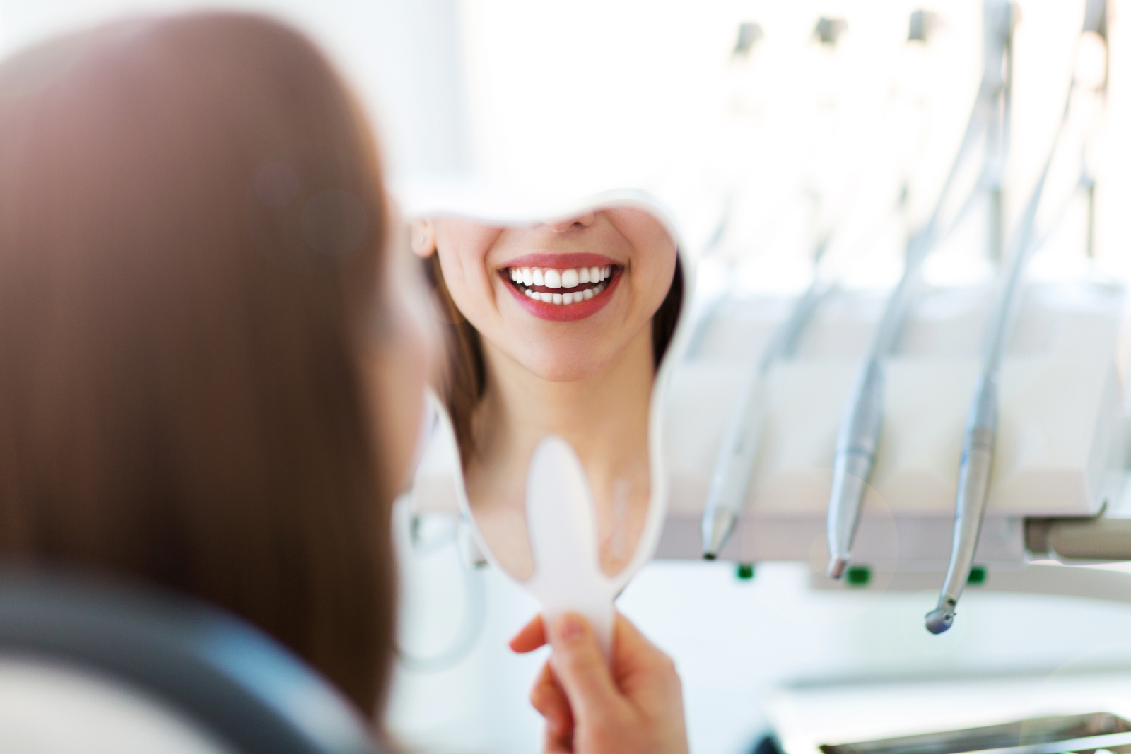 woman at dentist office