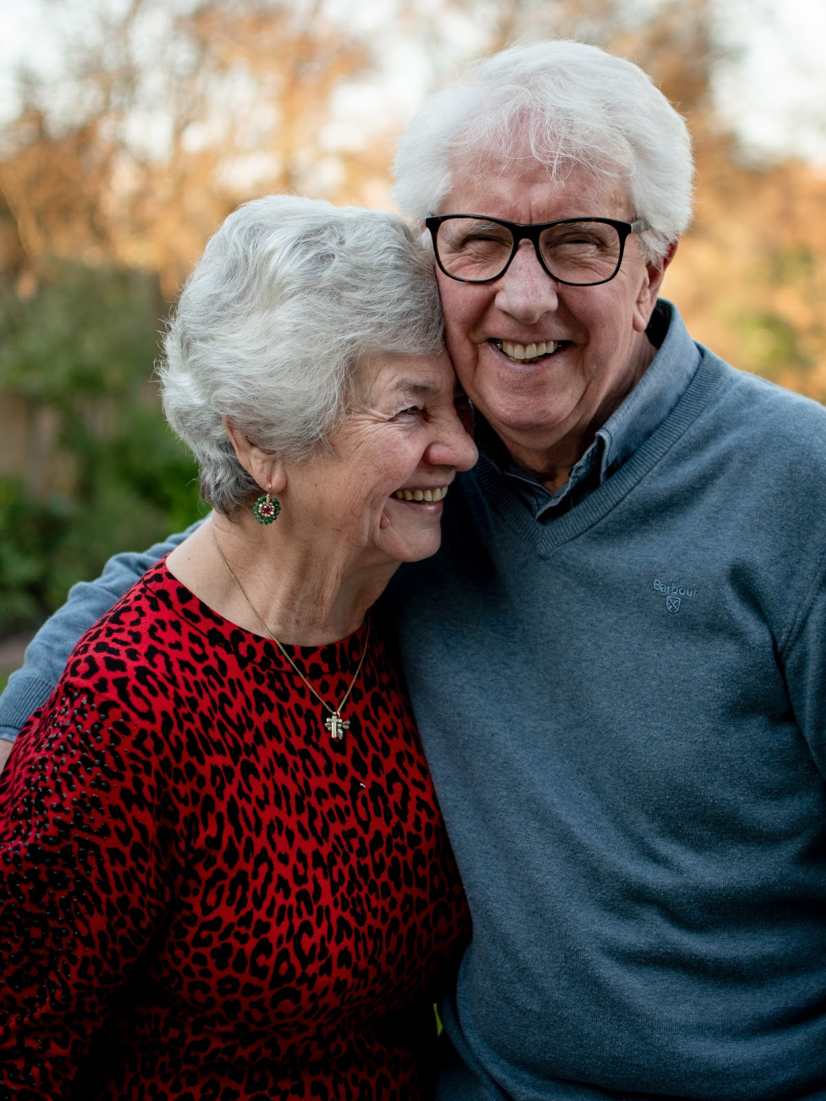 Older adult couple smiling