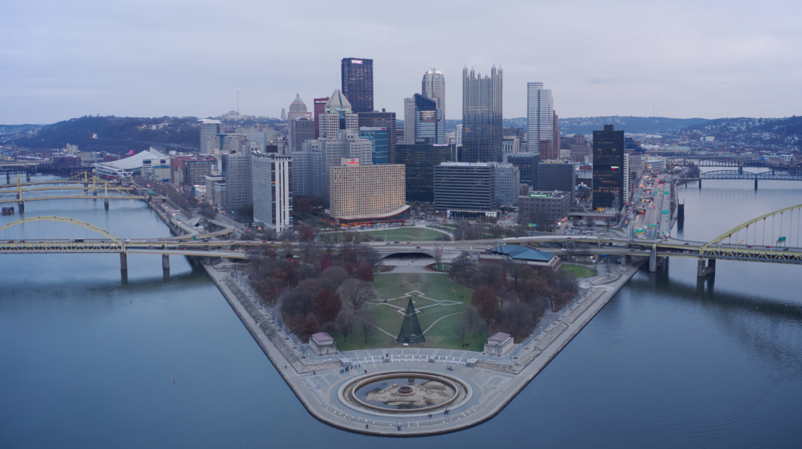 Point State Park and Downtown Pittsburgh