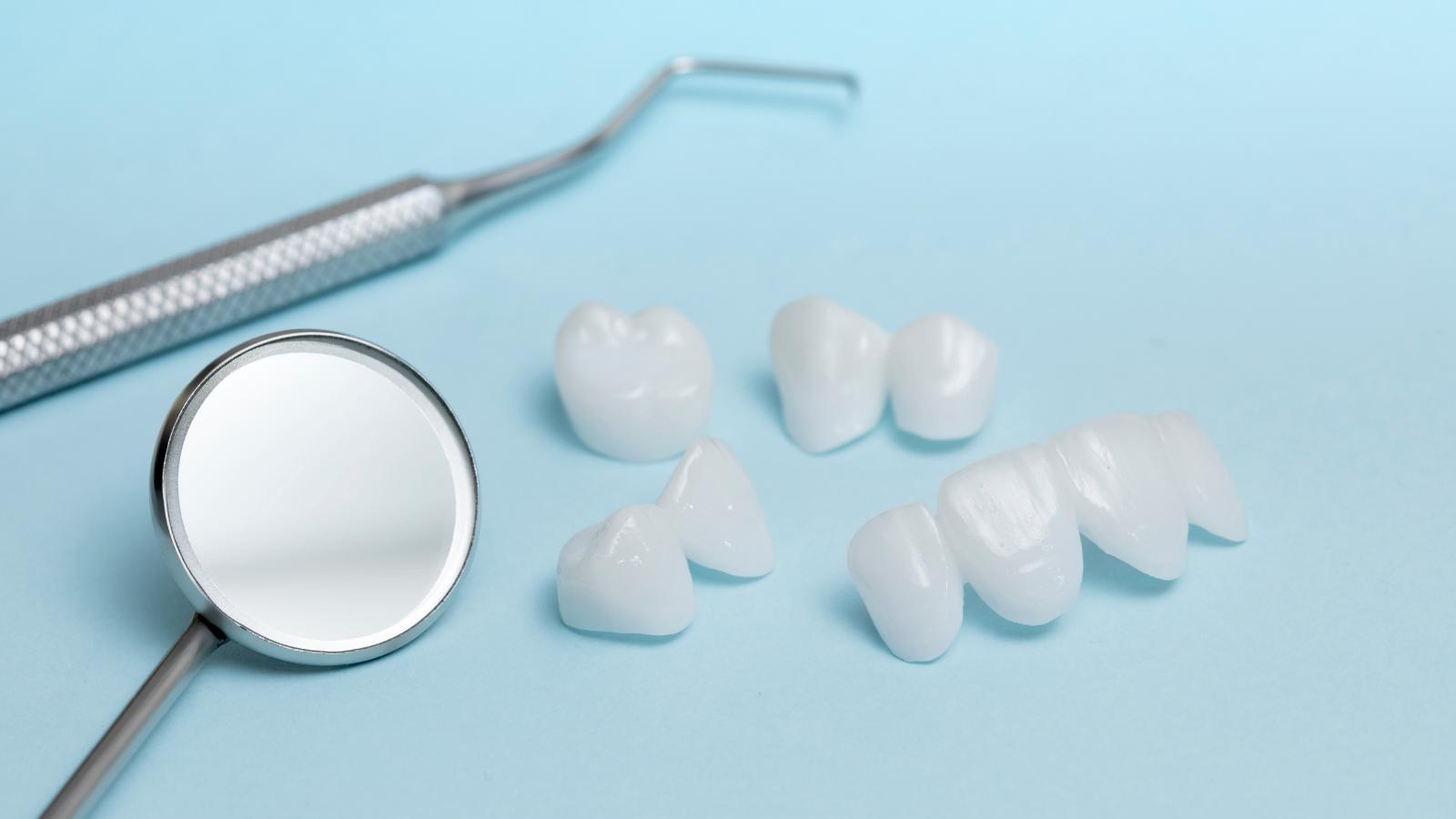 dental tools and veneers