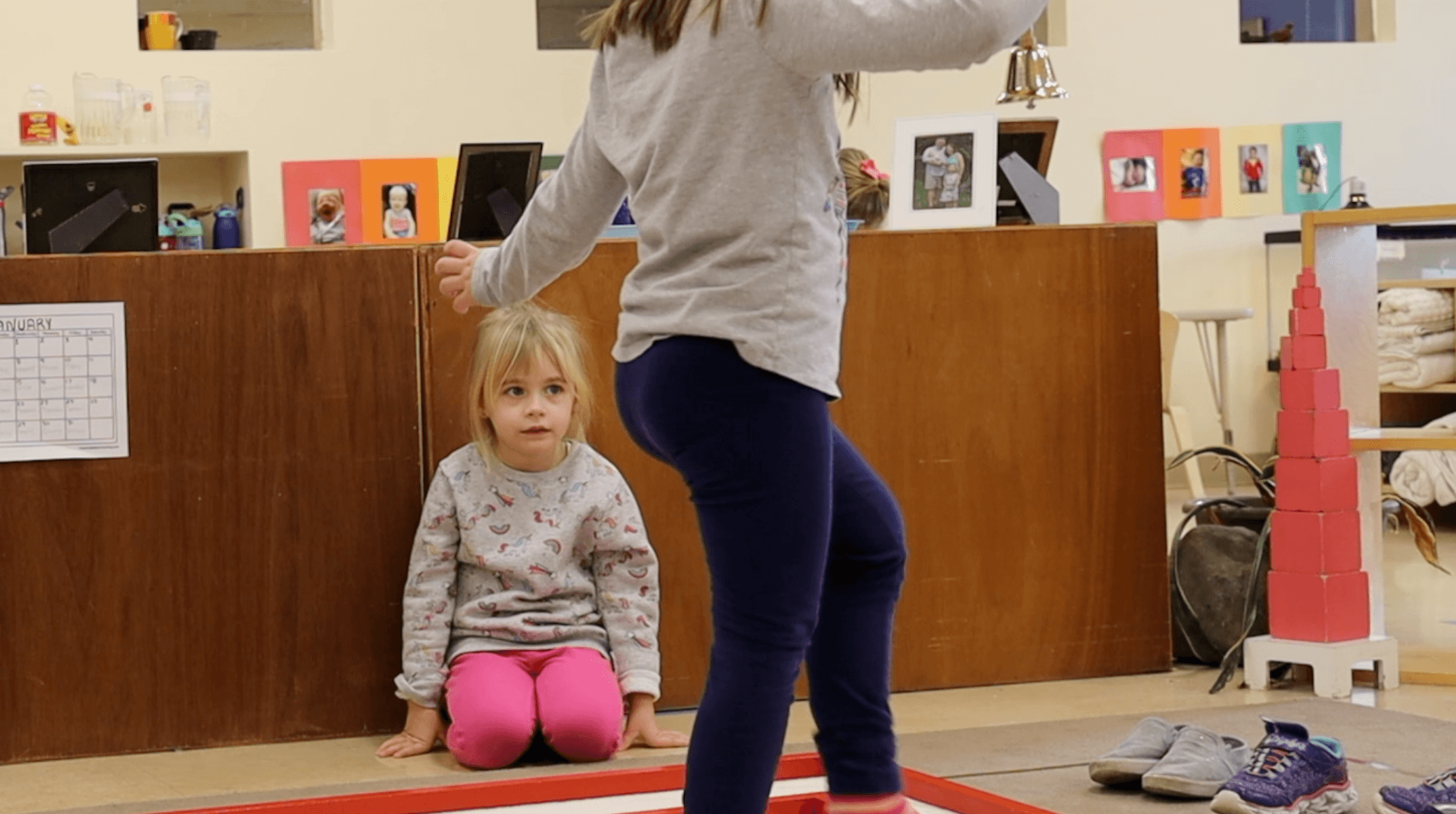 Primary students playing at Fox Valley Montessori