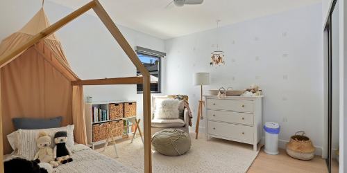 Playroom for kids in Montessori