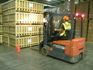 ARL Network Warehouse with forklift
