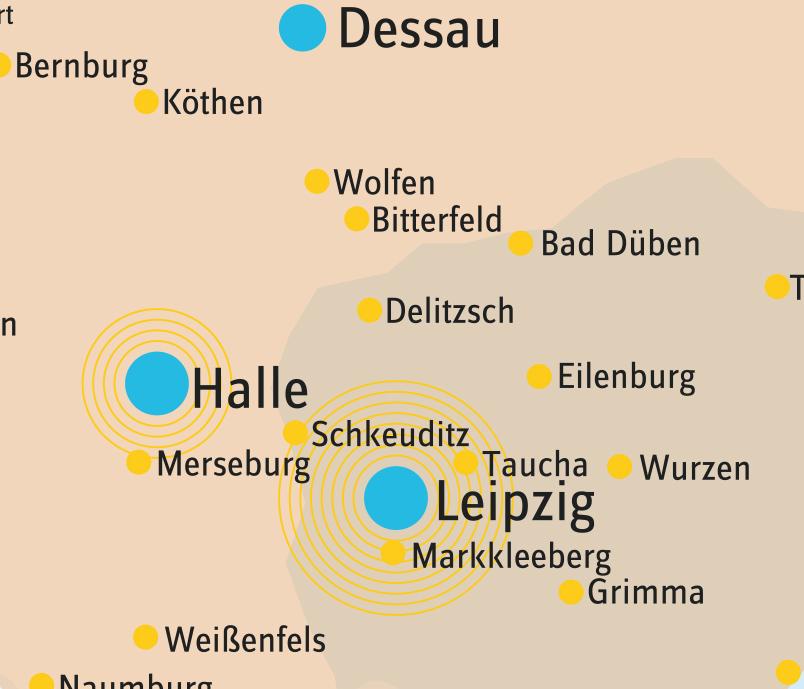 Karte Großräume