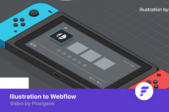Illustration to Webflow - Nintendo
