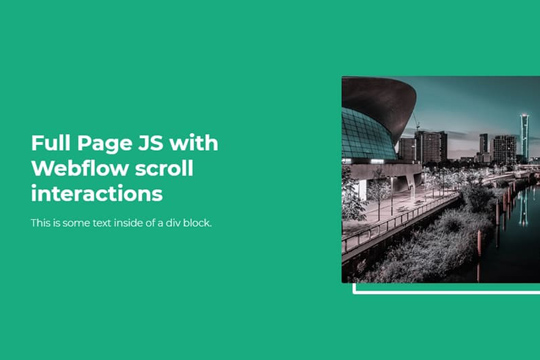 How to add fullPage JS to your webflow website