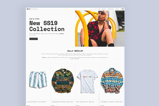 MODULAR Online Store