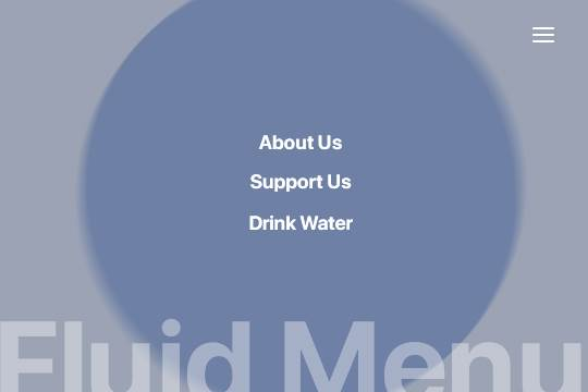 Fluid Fullscreen Menu