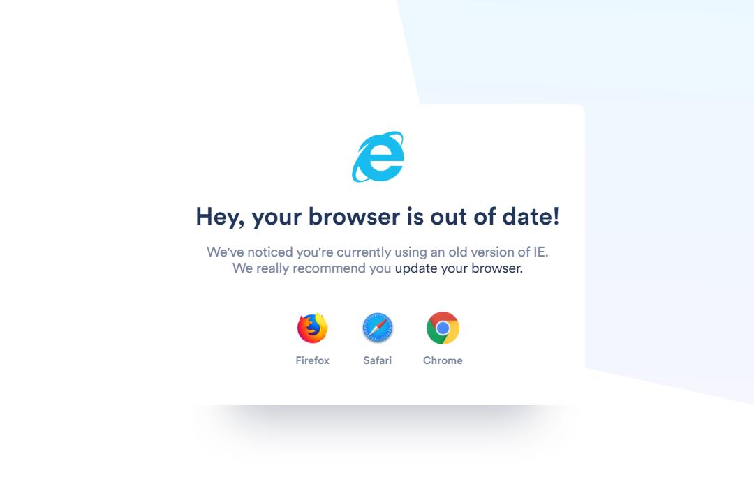 Block Internet Explorer Module