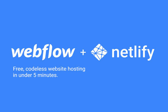 Host your webflow website for free using Netlify