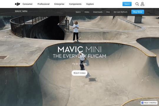 DJI Mavic Mini Landing Page