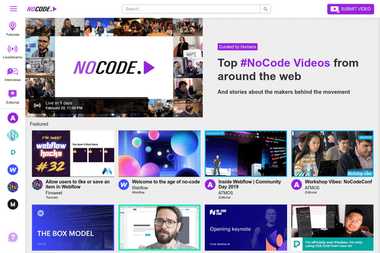 YouTube Clone - NoCode.Video