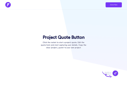 Project Quote Button