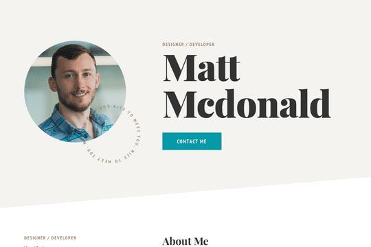 Plantilla de flujo web personal