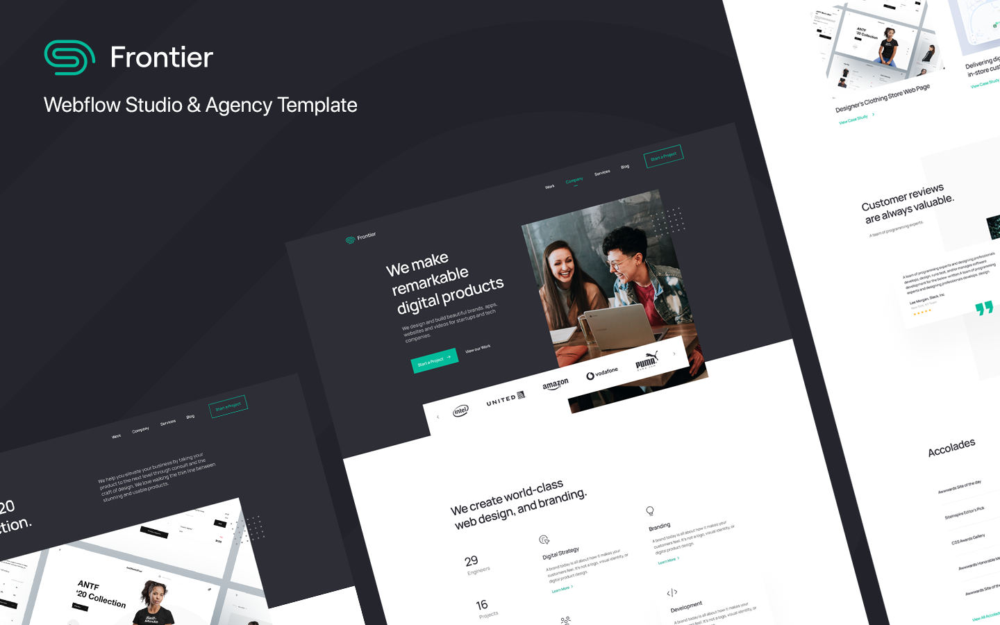 Frontier: Studio & Agency Template