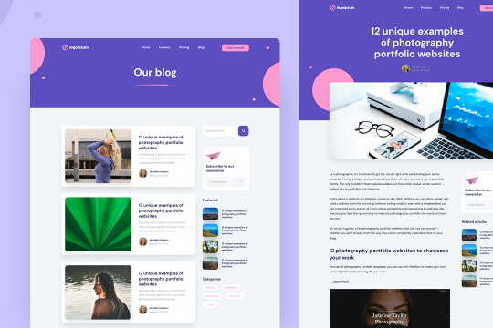 Cloneable Blog Template