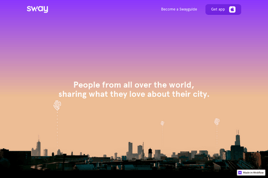 Sway – landing page w. parallax