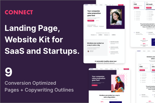 Connect — 9 Page Startup Template