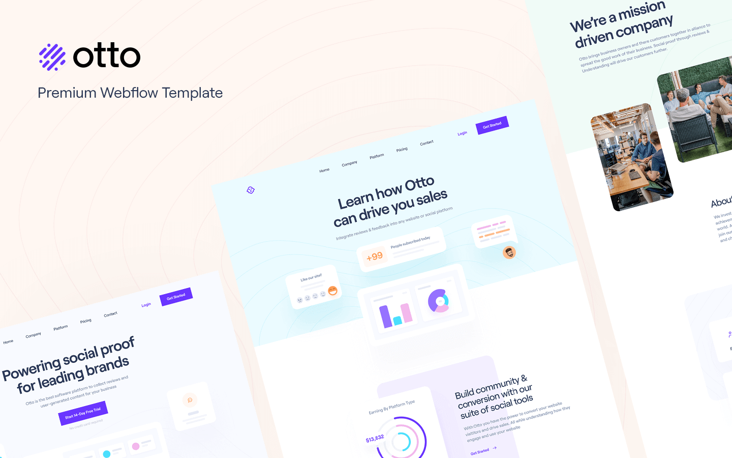 Otto: Dashboard & SaaS Template