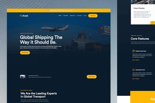 Avast: Plantilla de logística y negocios