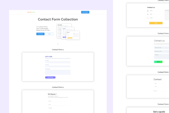 10+ Contact Forms