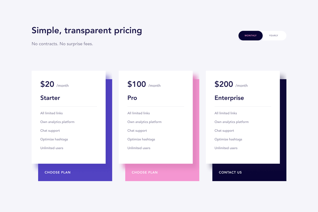 Webflow Pricing Cloneable