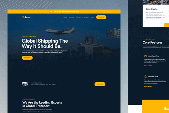 Avast: Logistics & Business Template