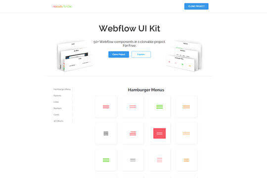 NoCodeTribe - Webflow UI Kit