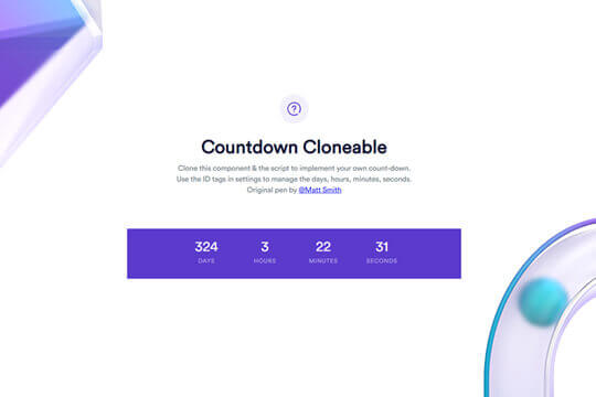 Webflow Countdown Component