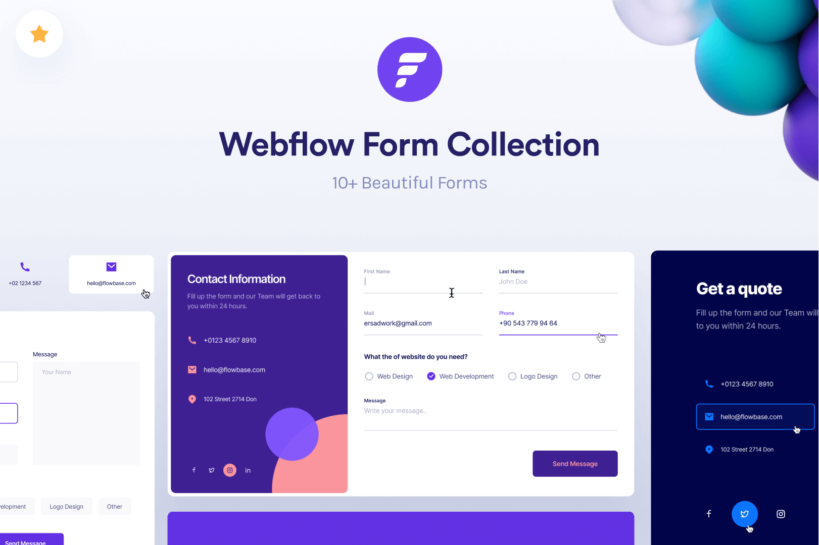 Webflow: Form Collection