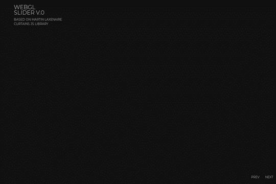 WEBGL слайдер