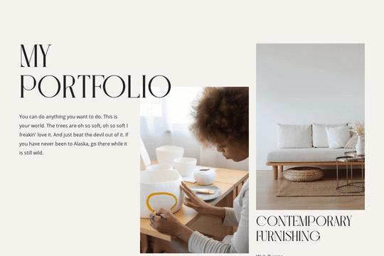Portfolio-Seite - Blättern
