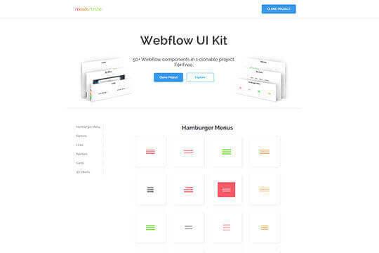 NoCodeTribe - Webflow UI Kit