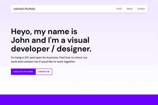 Simple Webflow Portfolio Clone