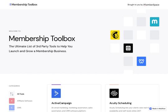 Der Werkzeugkasten für die Mitgliedschaft