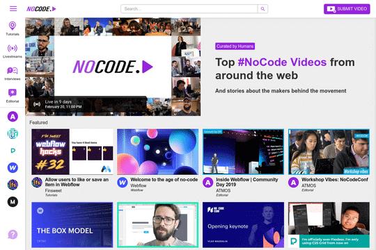 YouTube Clone - NoCode.Video