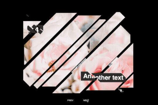 presentación de diapositivas de fragmentos animados