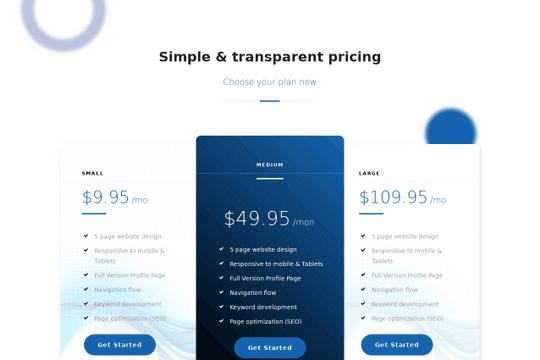 Tablas de precios simples