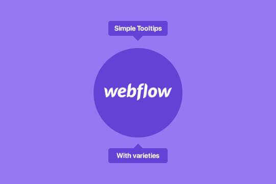 How to add hover tooltips in webflow