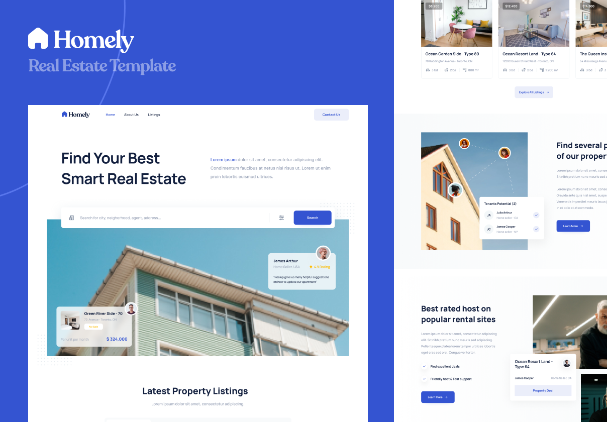 Homely - Real Estate Template